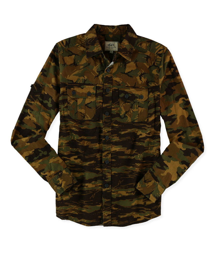 Ecko Unltd Mens Multiple Camo Ls Button Up Shirt Ebay