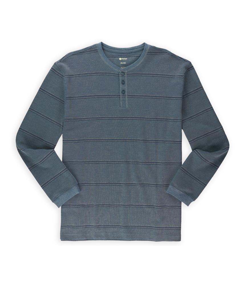 haggar mens striped thermal henley shirt mens apparel