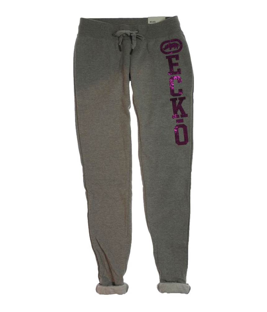 Ecko Unltd. Womens Glitter Rhinestone Casual Sweatpants