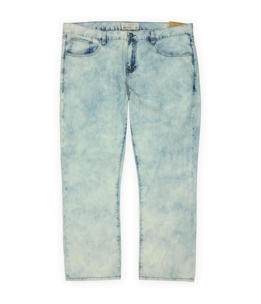 Ecko Unltd. Mens Bleach Out Denim Straight Leg Jeans Botws