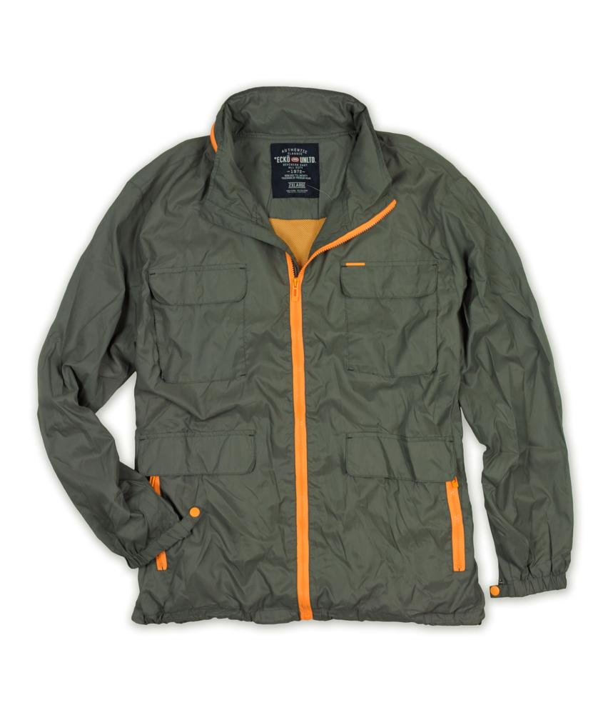 ecko unltd mens nylon full zip hooded windbreaker jacket. Black Bedroom Furniture Sets. Home Design Ideas