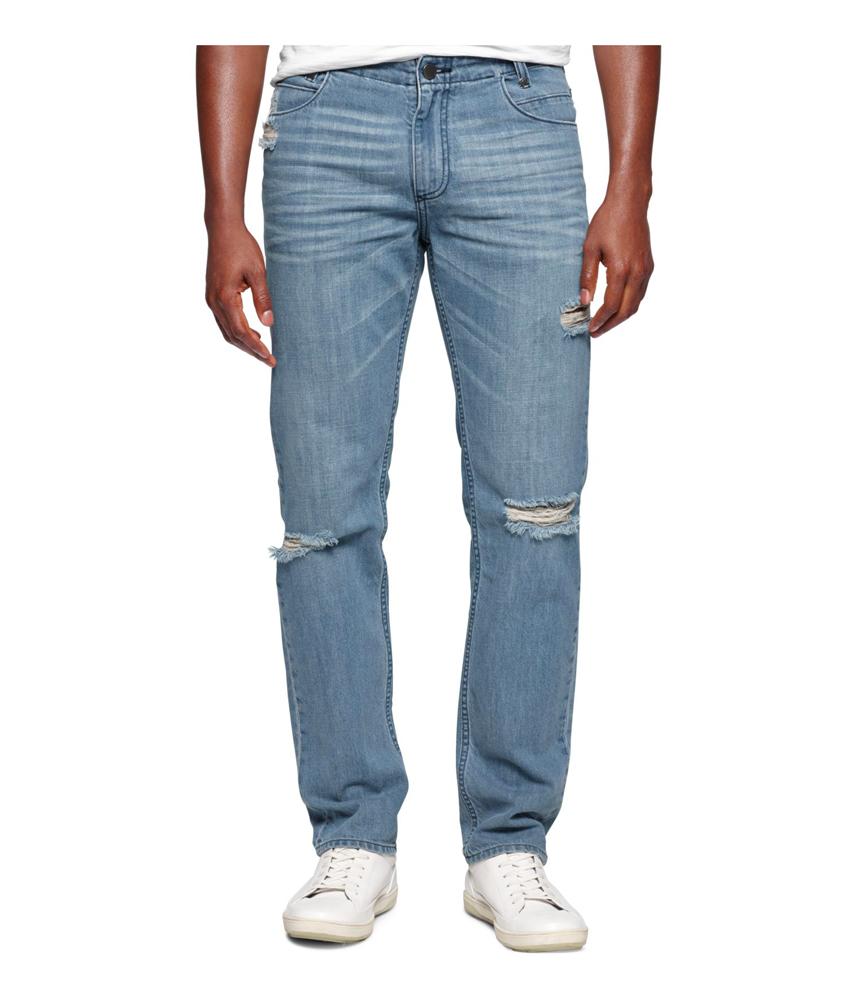calvin klein mens slim straight leg jeans ebay. Black Bedroom Furniture Sets. Home Design Ideas