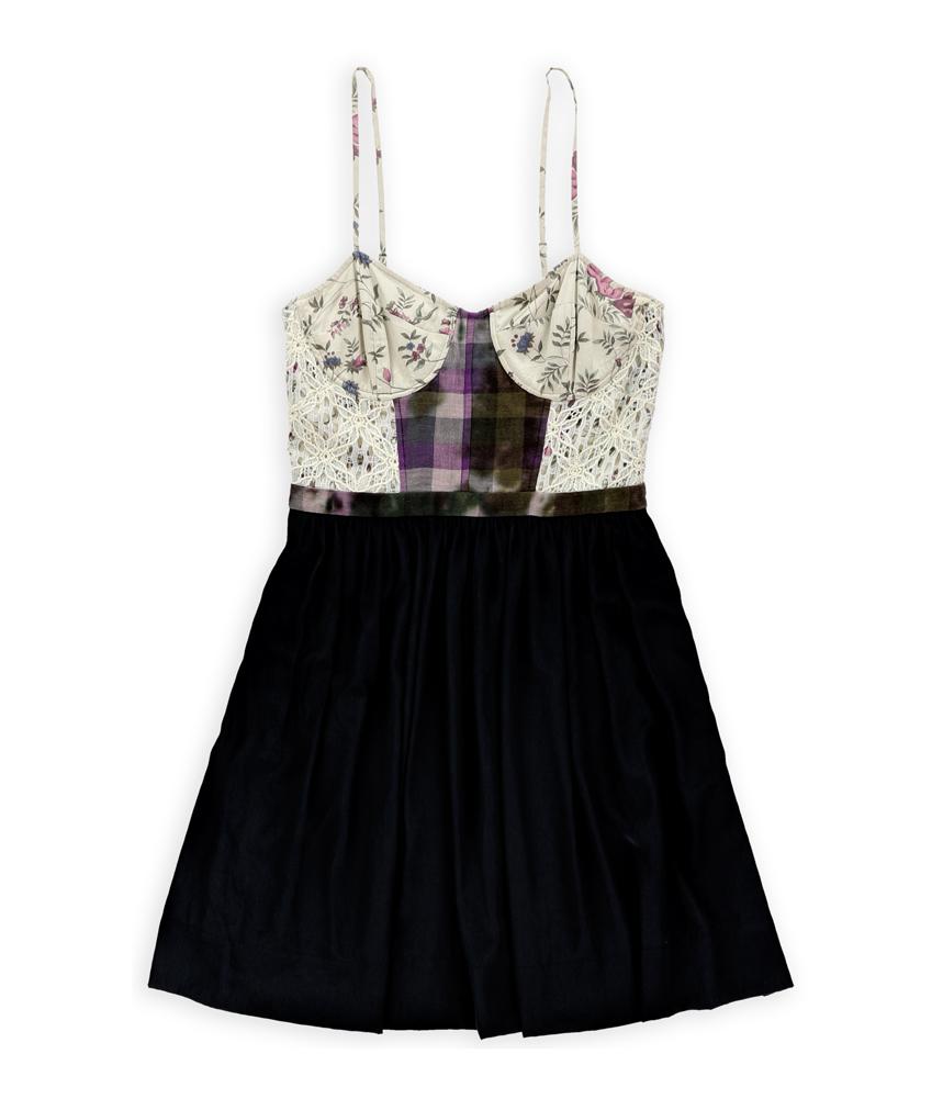 Rachel Roy Womens Daisy Chain Corset Dress
