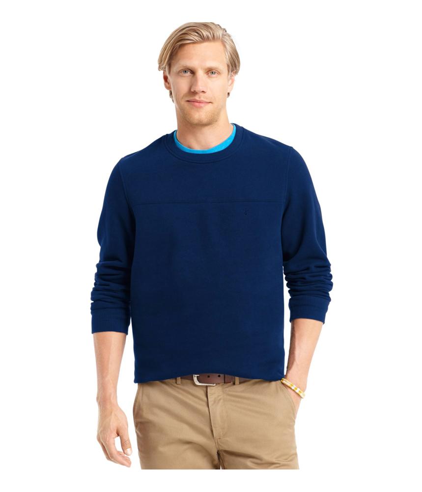 Izod Mens Sueded Fleece Pullover Sweater Mens Apparel