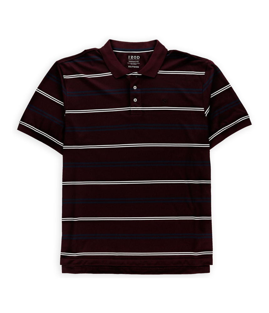 IZOD Mens Luxury Sport Performance Rugby Polo Shirt