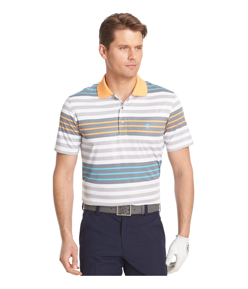 Izod mens surfs up stripe rugby polo shirt mens apparel for Izod shirt size chart