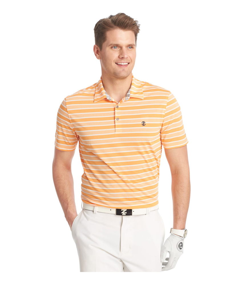 Izod Mens Cool Waves Heather Rugby Polo Shirt Mens