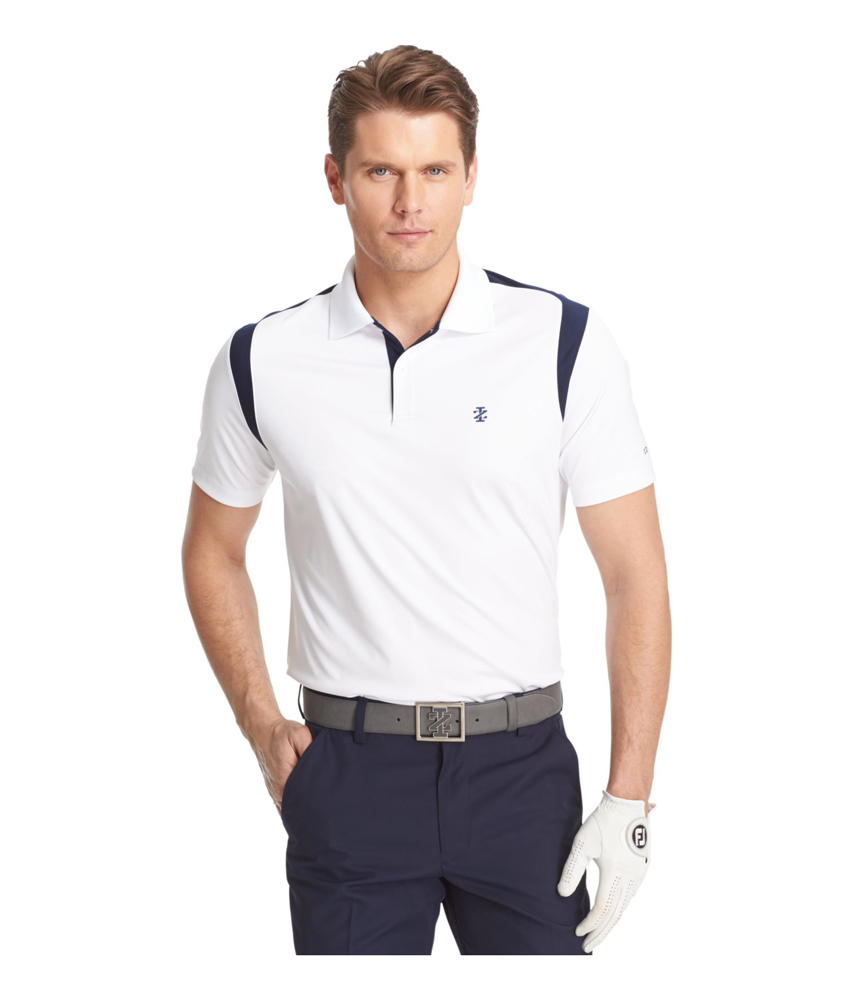 Izod Mens Game Day Mesh Rugby Polo Shirt Mens Apparel