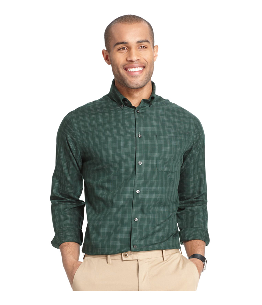 Van heusen mens premium no iron button up shirt for Van heusen iron free shirts