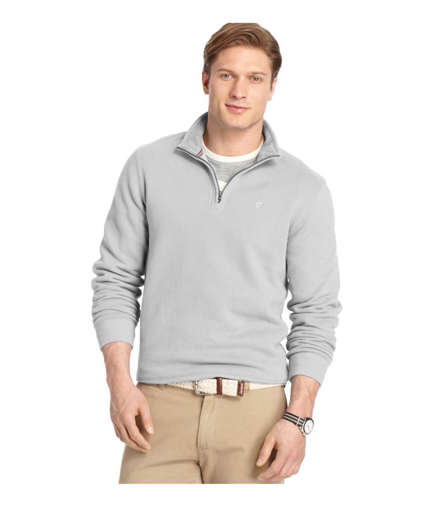 Izod mens sueded quarter zip sweatshirt mens apparel for Izod shirt size chart