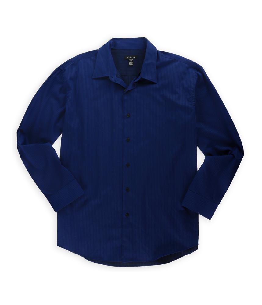 Van Heusen Mens Striped No Iron Button Up Dress Shirt