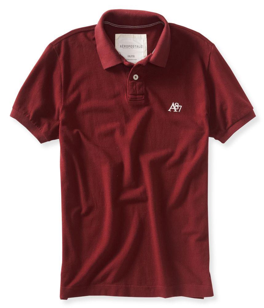 Aeropostale mens a87 ss rugby polo shirt ebay for Union made polo shirts