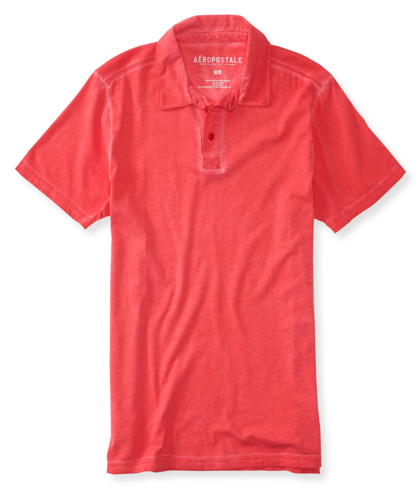 Aeropostale Mens Dyed Rugby Polo Shirt Ebay