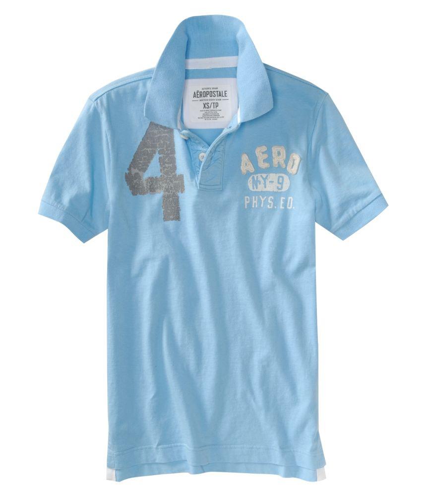 Aeropostale Mens Solid Rugby Polo Shirt Ebay