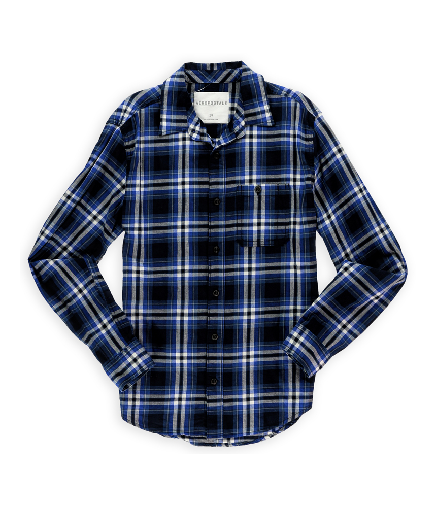 Aeropostale mens flannel button up shirt mens apparel for Button up flannel shirts