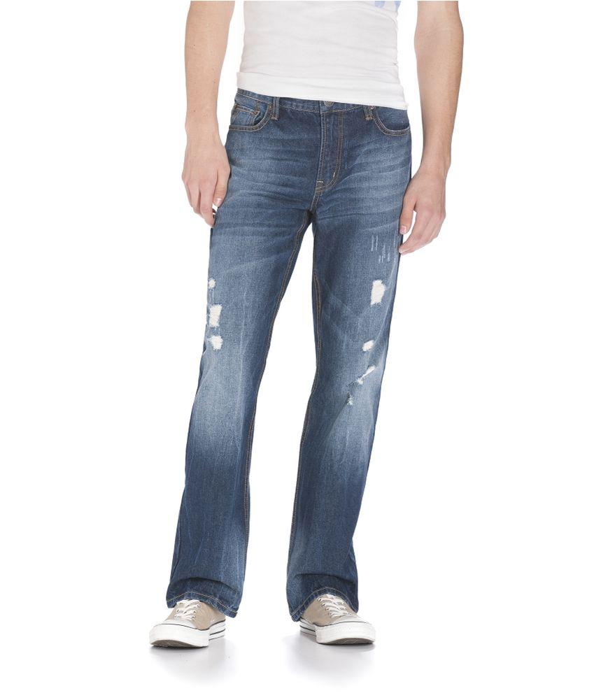 Aeropostale Mens Driggs Med Wash Slim Fit Jeans