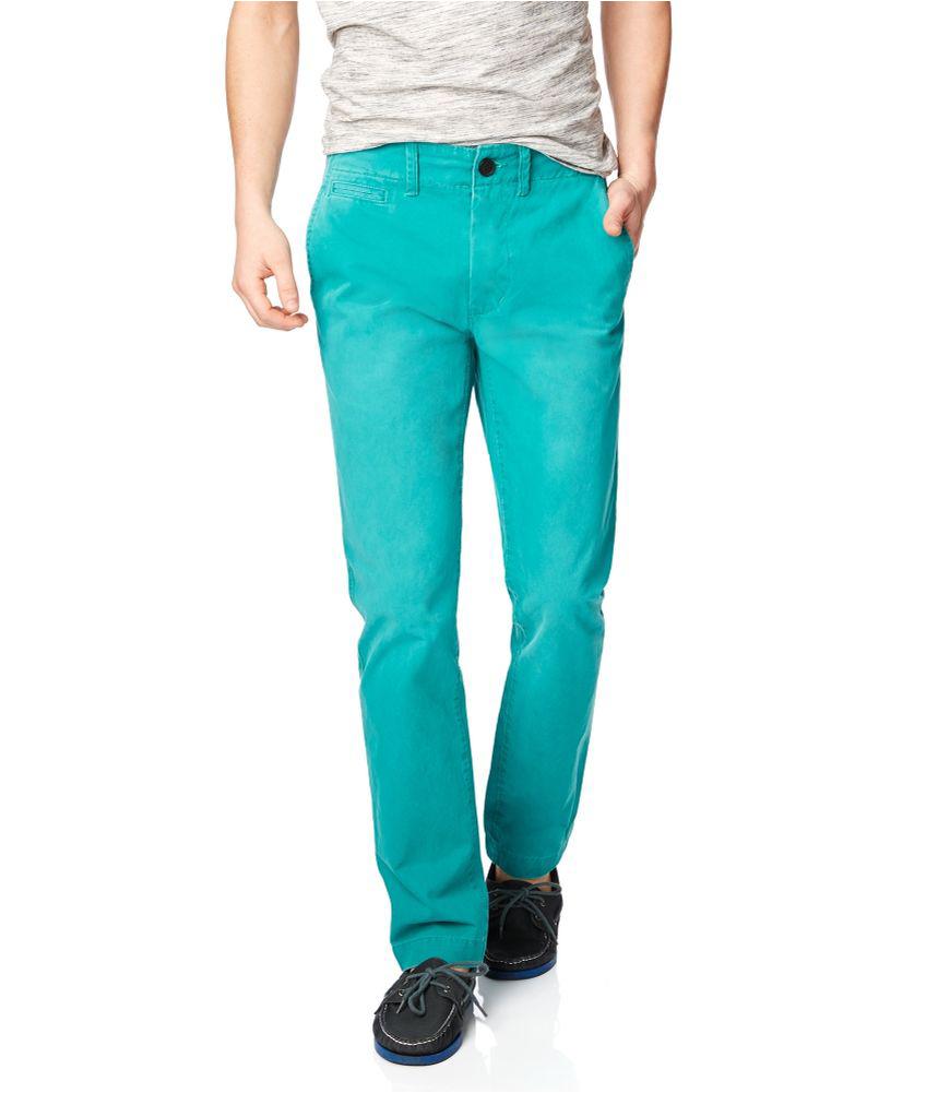 Aeropostale Mens Slim Straight Color Casual Chino Pants | eBay