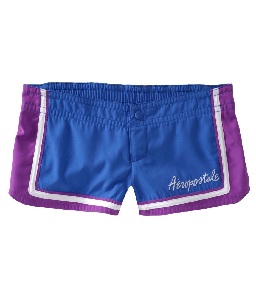 Aeropostale Womens Embroidered Swim Bottom Board Shorts