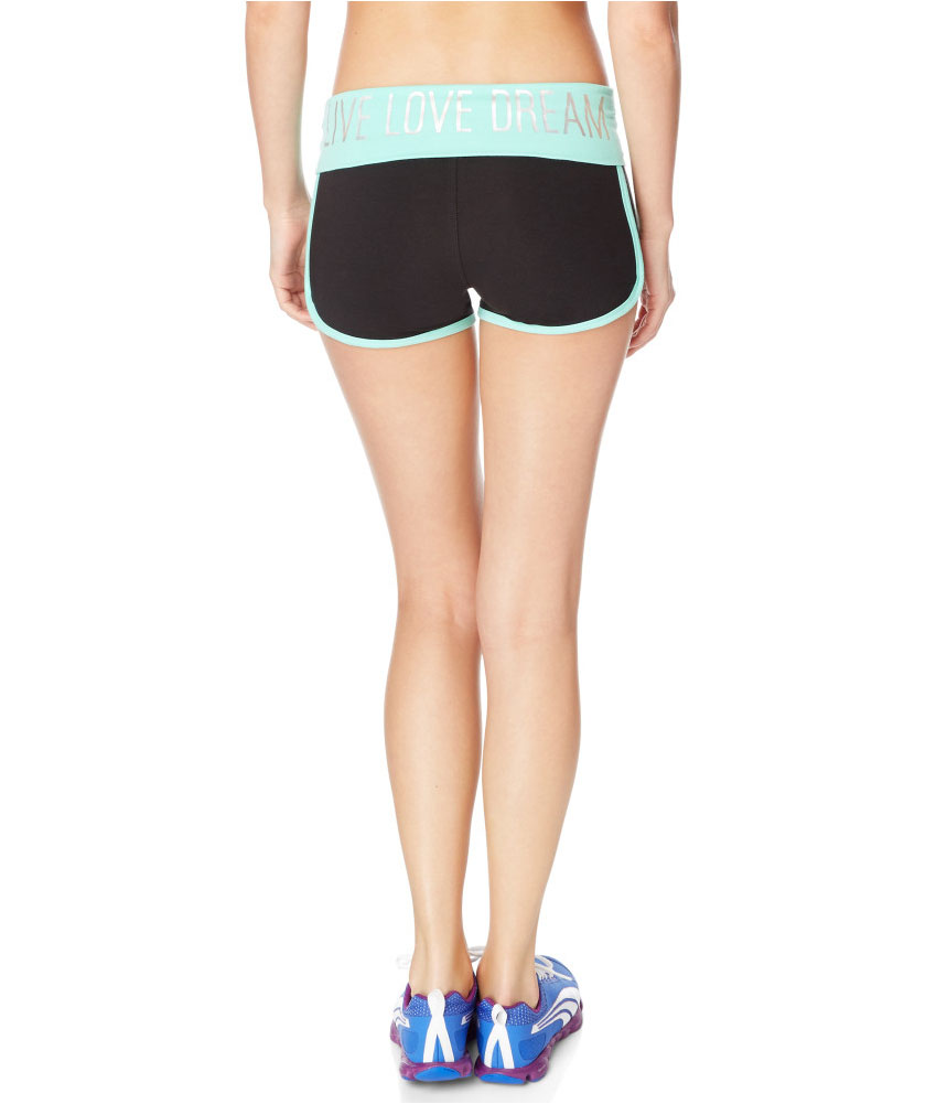 Aeropostale Womens Logo Yoga Athletic Workout Shorts