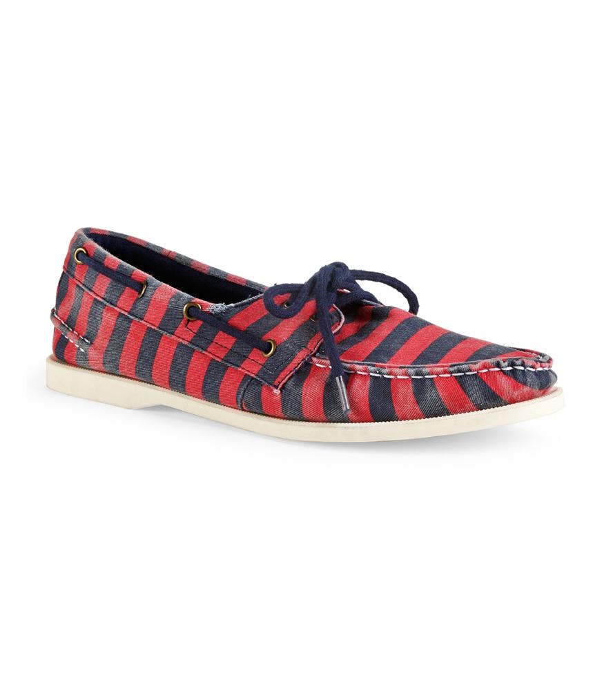aeropostale mens striped canvas comfort boat shoes ebay