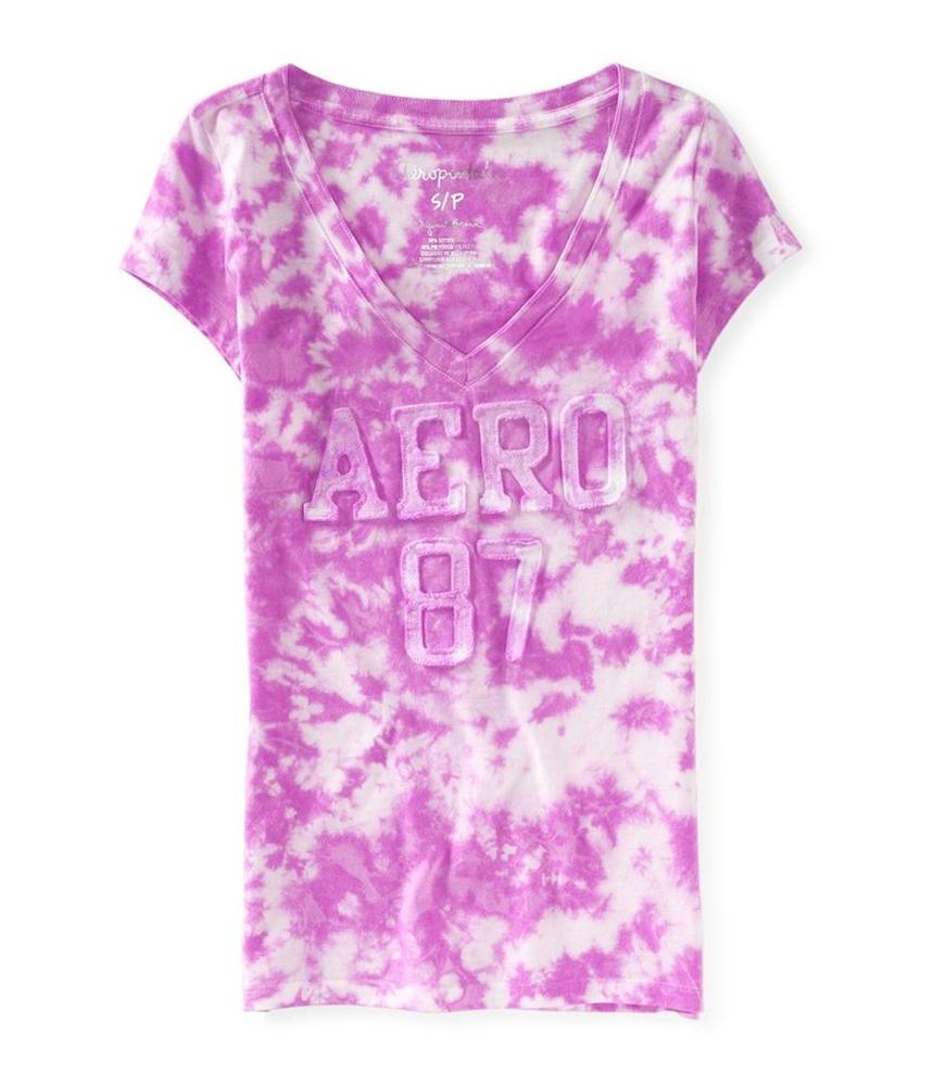 Aeropostale womens tie dye applique embellished t shirt ebay for Women s embellished t shirts