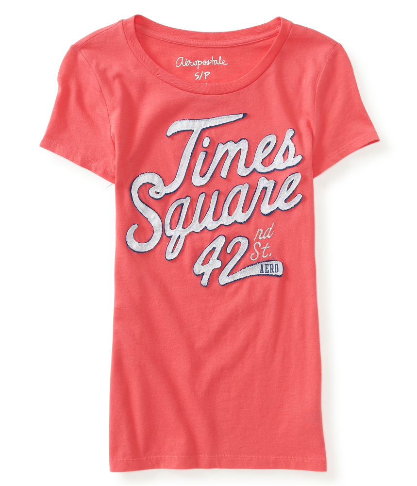 Aeropostale womens times square embellished t shirt ebay for Women s embellished t shirts