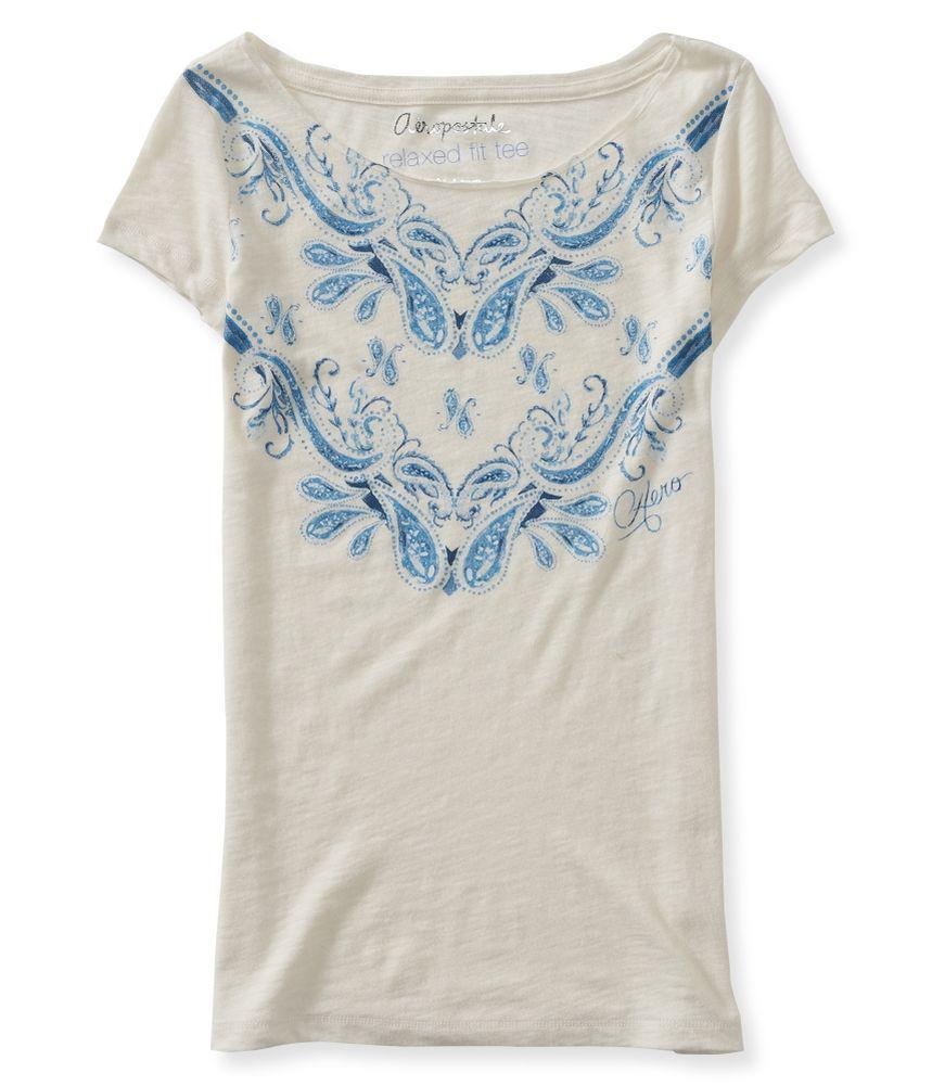 aeropostale womens bandana print graphic t shirt womens