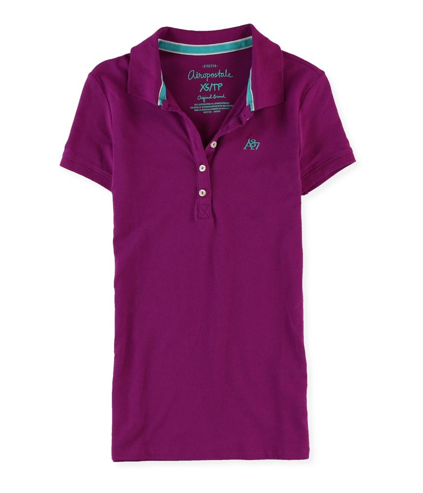 Aeropostale womens a87 5 button polo shirt womens for Womens button up polo shirts