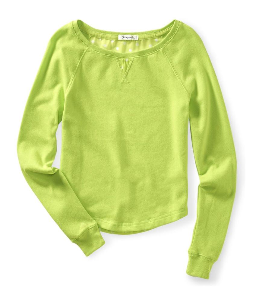 Aeropostale womens chiffon back embellished t shirt for Women s embellished t shirts