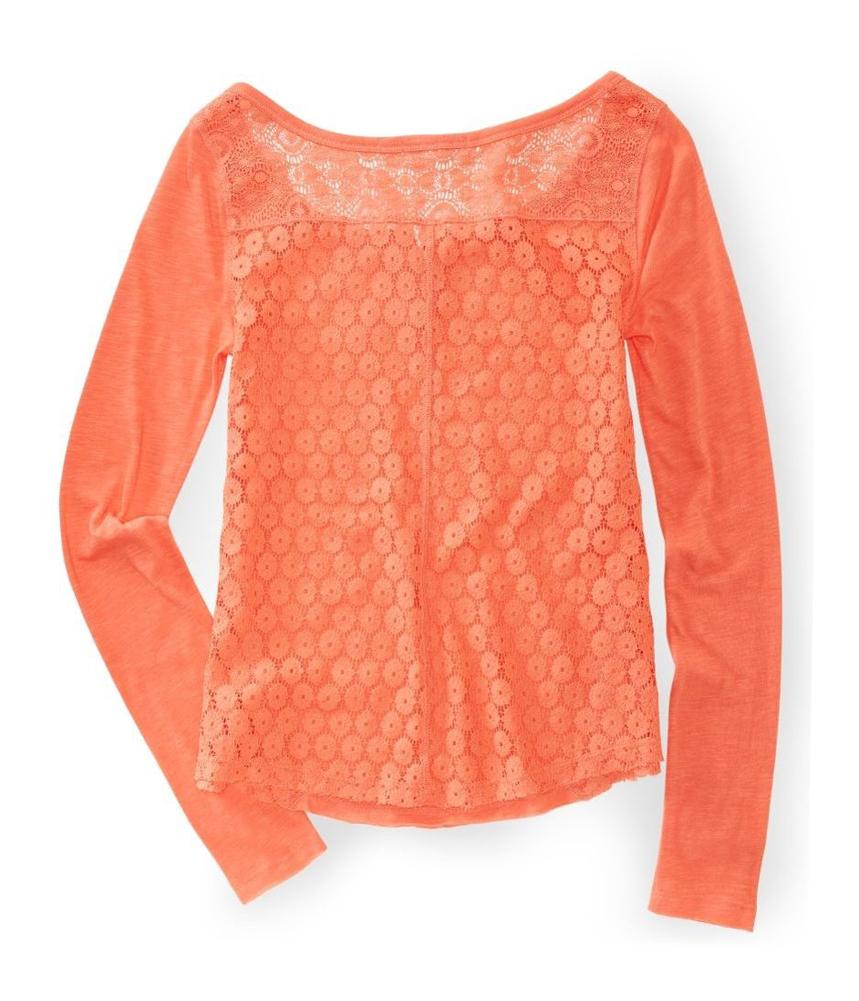 Aeropostale womens lace back embellished t shirt ebay for Women s embellished t shirts