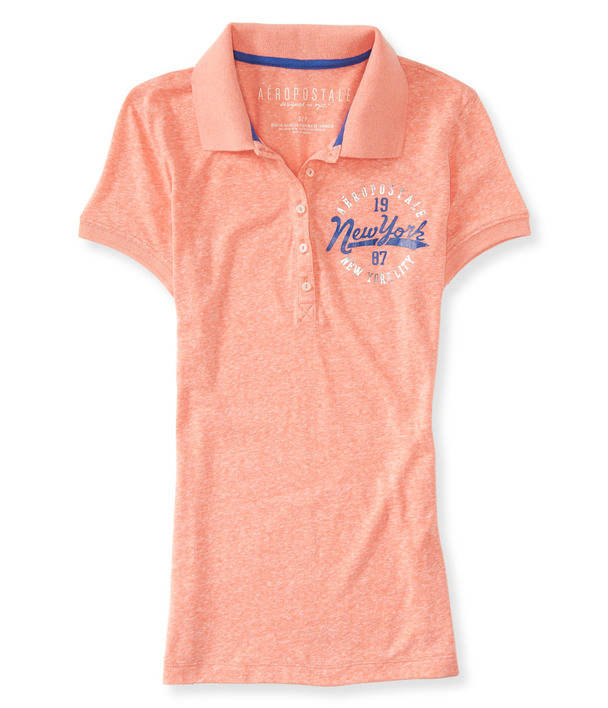 Aeropostale Womens New York City Polo Shirt Ebay