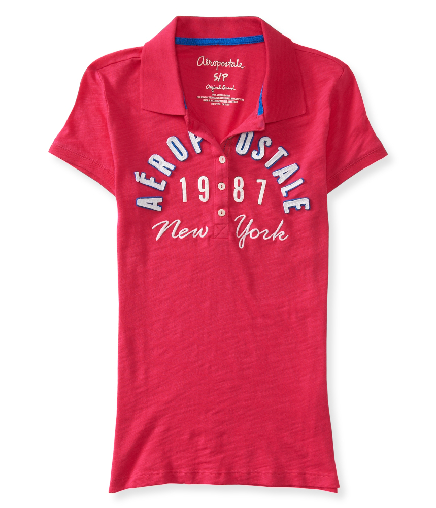 Aeropostale womens 1987 new york polo shirt ebay for What stores sell polo shirts