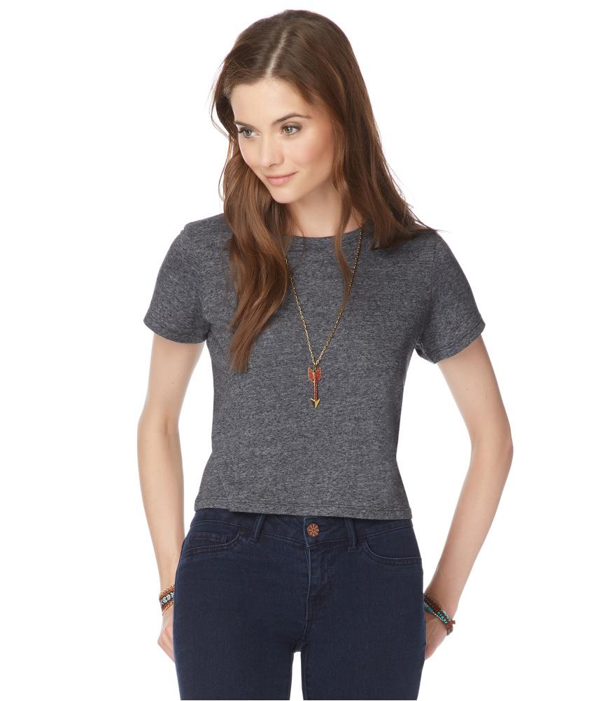 aeropostale womens crop basic t shirt ebay. Black Bedroom Furniture Sets. Home Design Ideas