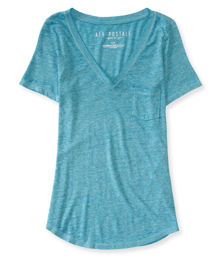 Aeropostale womens mini pocket embellished t shirt ebay for Women s embellished t shirts