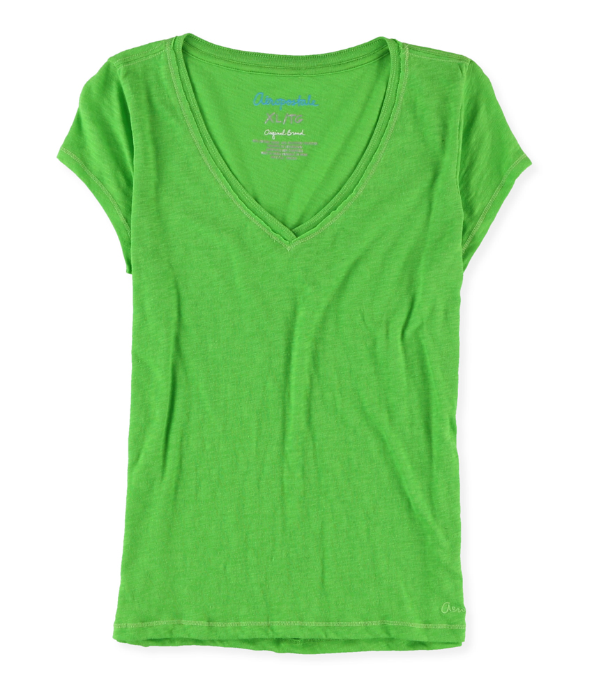 aeropostale womens solid color v neck basic t shirt ebay