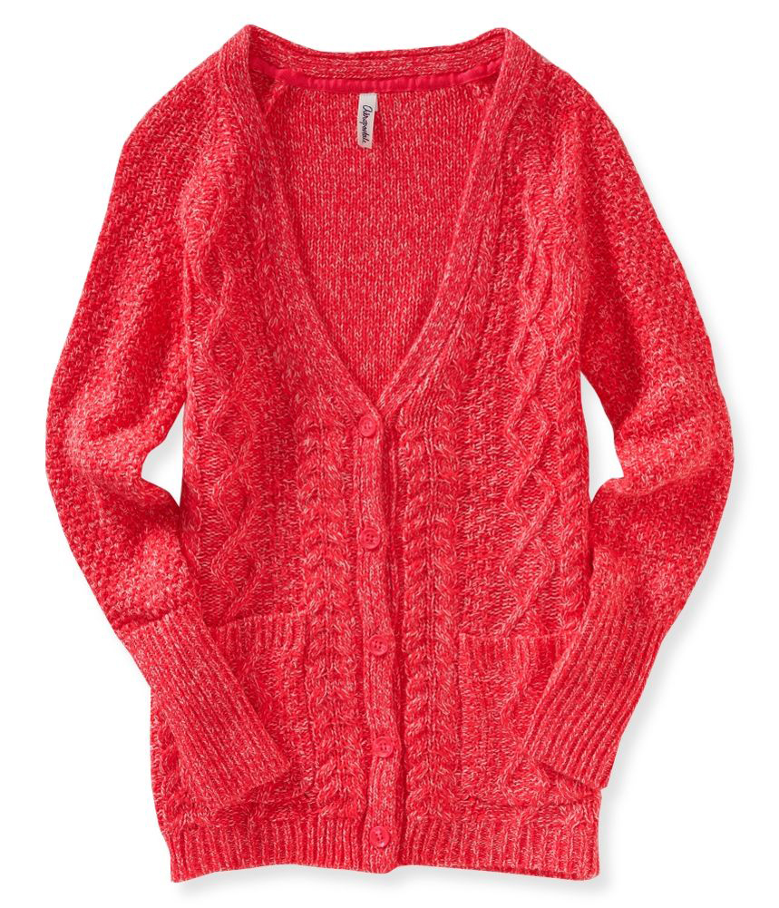 Knitting On The Net Buttonhole : Cable knit button up sweater women s long jacket