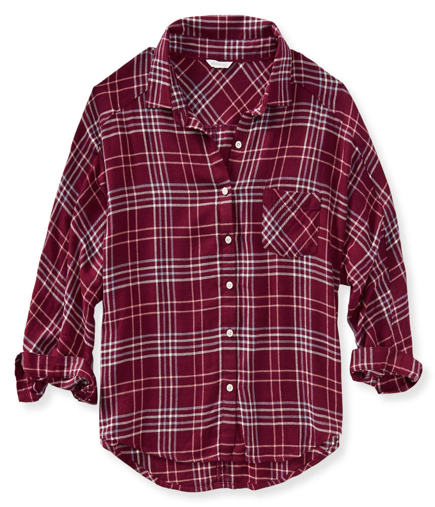 aeropostale womens soft flannel button up shirt womens