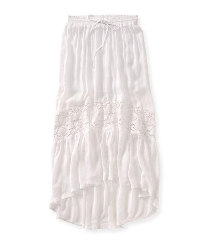 New  About Womens Full Length Denim Skirt Dark Wash Maxi Long Skirt 94