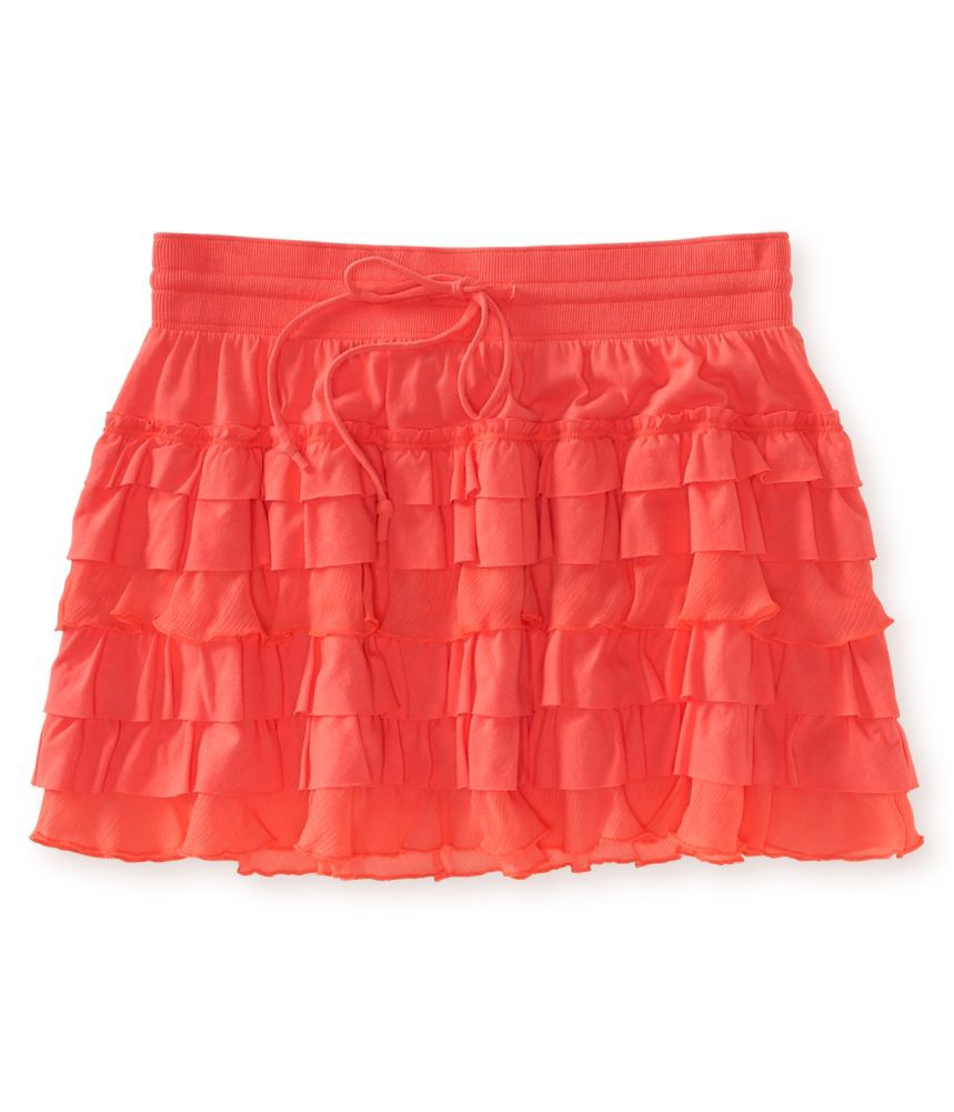 aeropostale womens neon ruffle mini skirt womens apparel