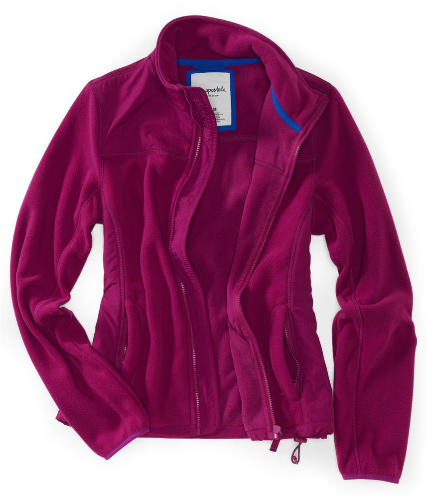 Aeropostale Womens Fleece Full Zip Lightweight Field ...