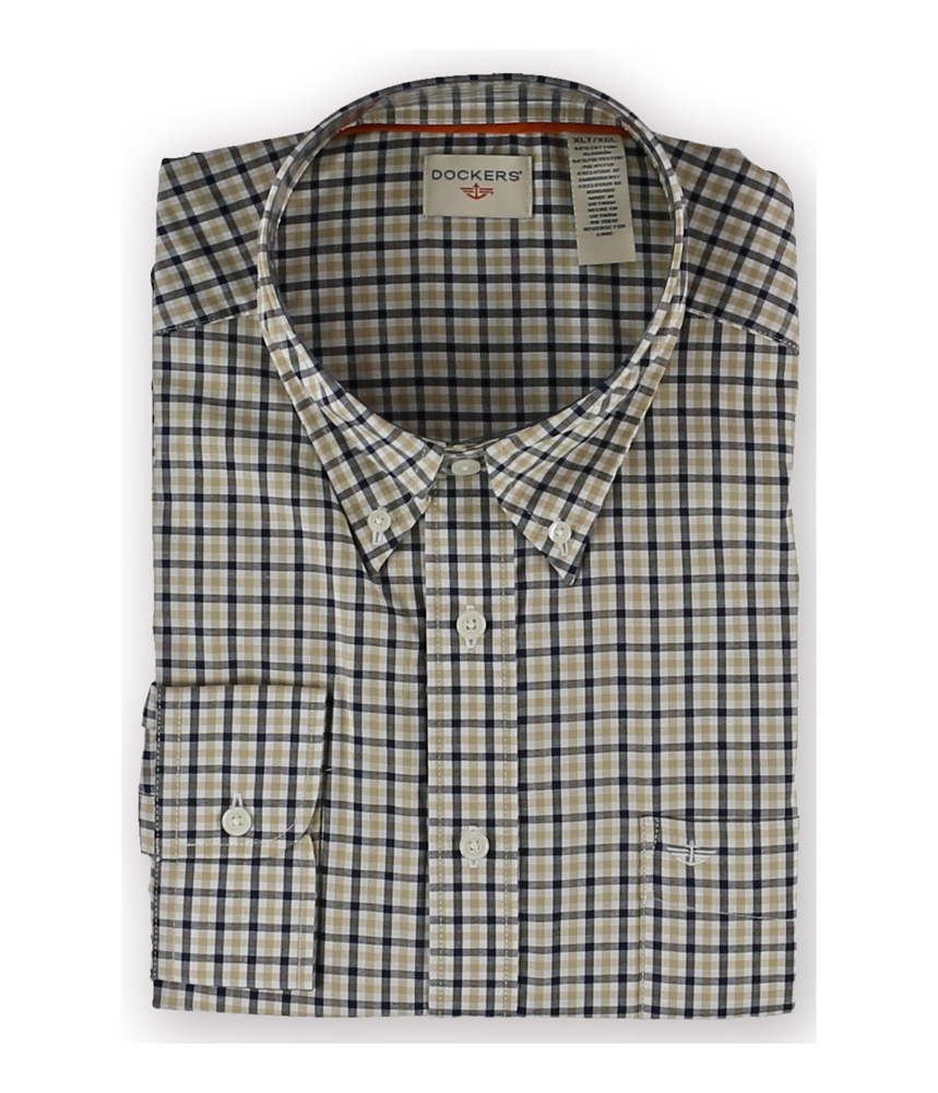 Dockers mens plaid no wrinkle button up shirt mens for Dockers wrinkle free shirts