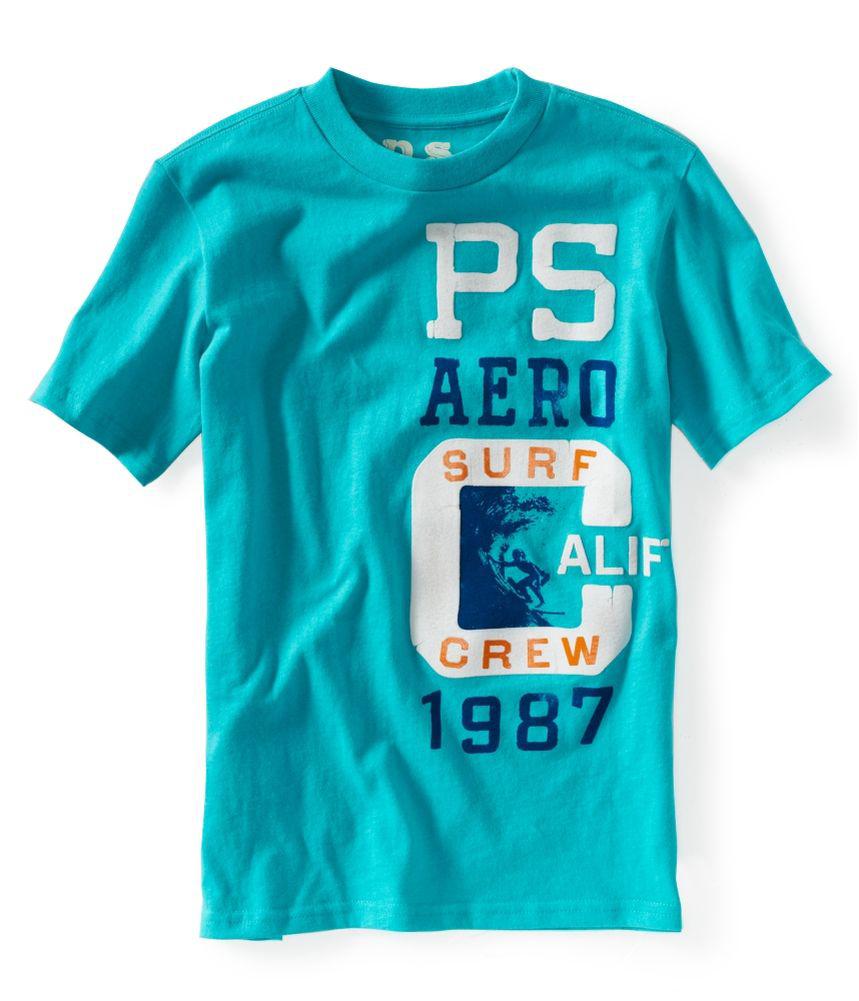 Aeropostale Boys Surf Crew Graphic T Shirt