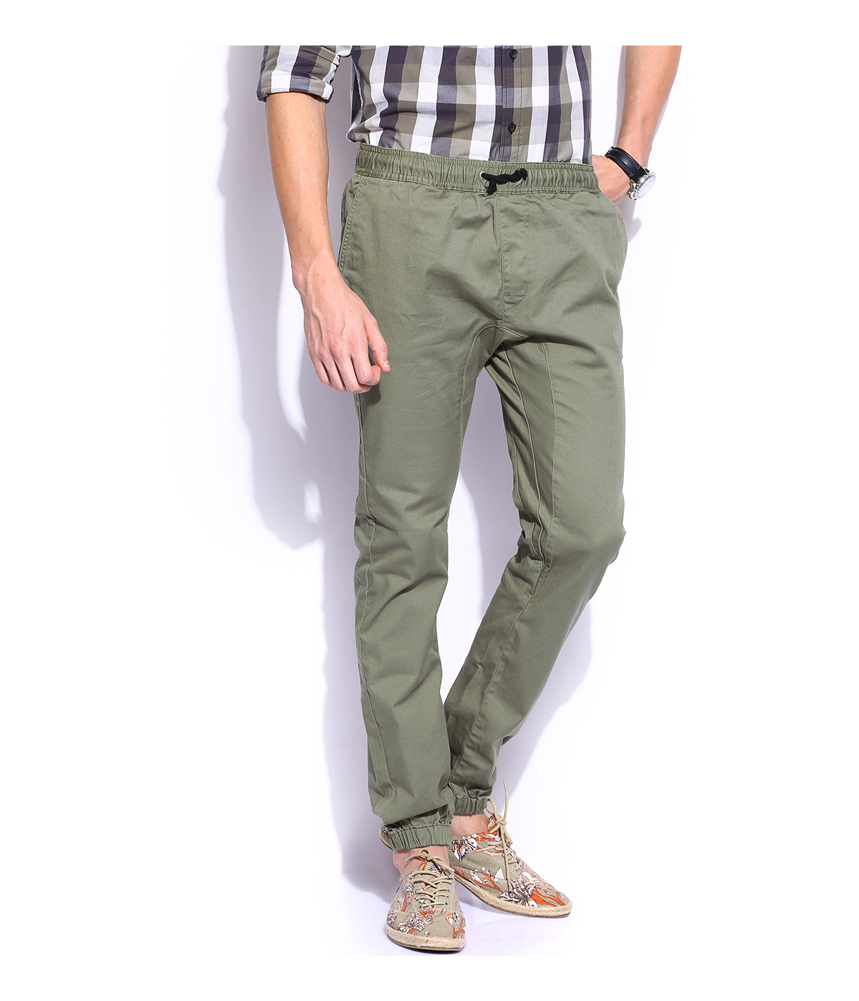Bullhead Denim Co Dillon Skinny Chino Jogger Pants Find this Pin and more on fashion by Gerardo Trinidad. An alternative to men's denim jeans and chinos. The Chino Joggers pair up classic chinos with an elastic, drawstring waist as well as banded elastic cuffs at bottom.