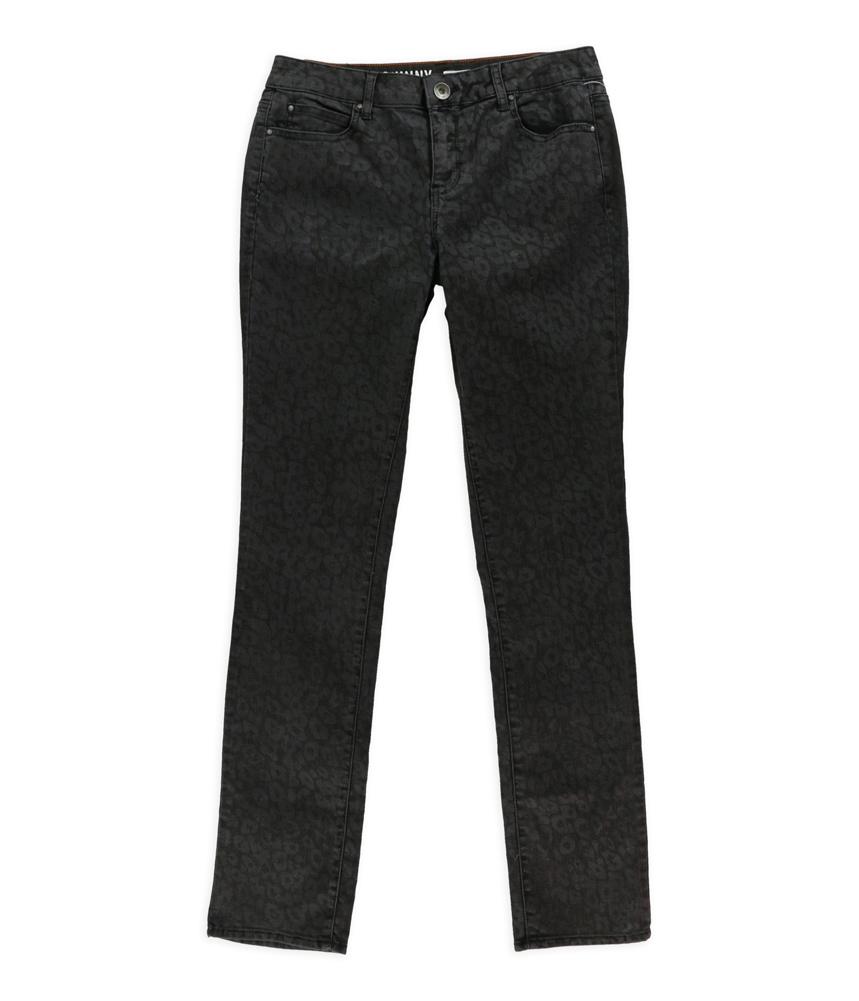 DKNY Womens Animal Print Regular Fit Jeans