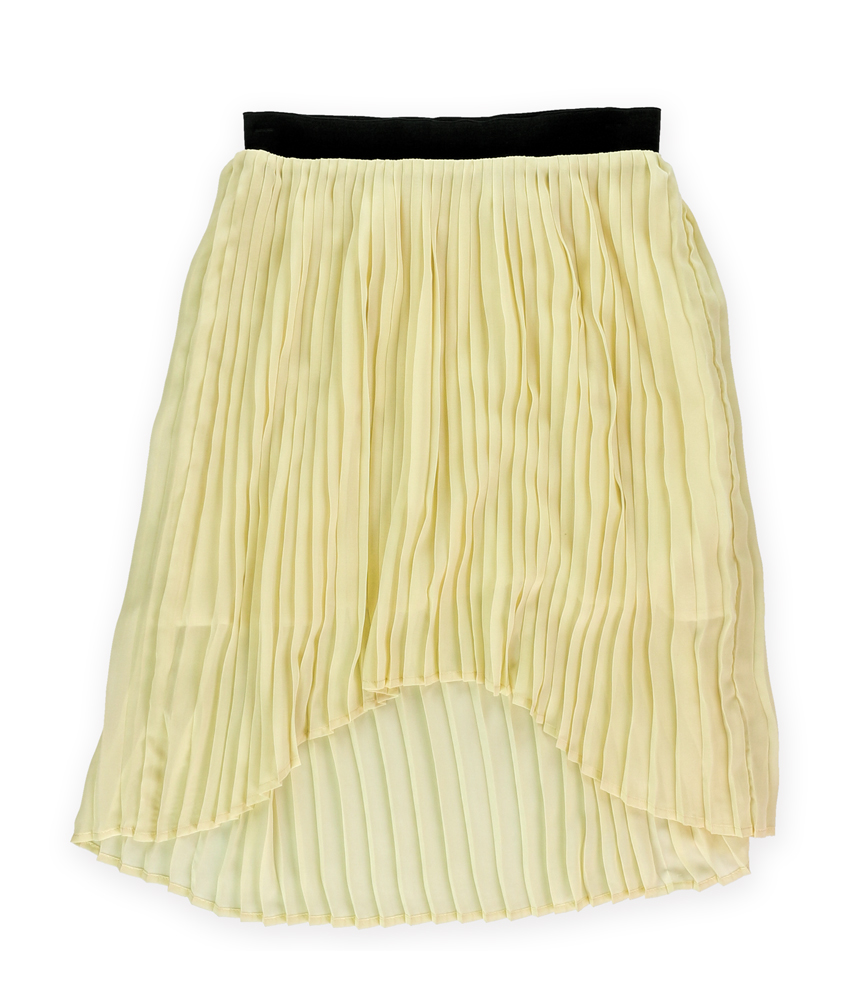sugar womens pleated high low skirt womens apparel