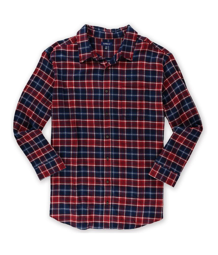 Croft barrow mens signature flannel button up shirt mens for Button up flannel shirts