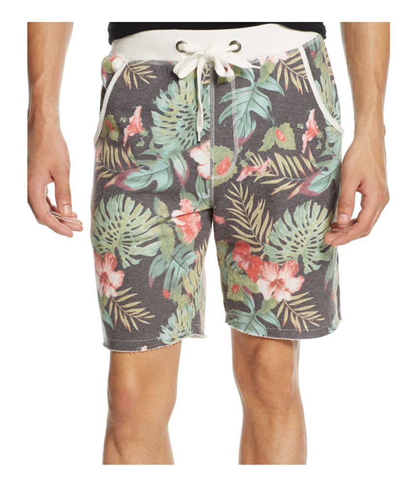 Momentus MomentUS Mens Floral-Print French Terry Casual Walking Shorts