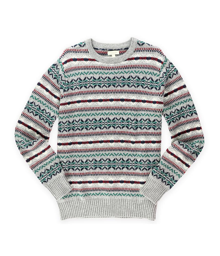 sonoma life style mens fair isle crew pullover sweater ebay. Black Bedroom Furniture Sets. Home Design Ideas