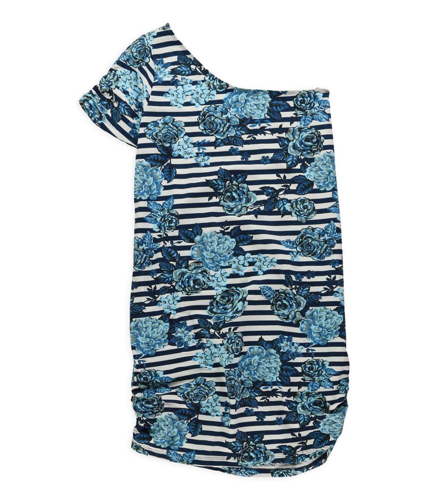 Love Change Womens Flower Stripe One Shoulder Dress at Sears.com