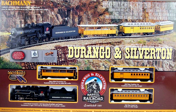 Details about bachmann ho scale train sets analog durango amp silverton